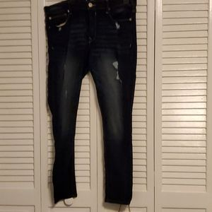 Womens dark wash skinny jeans